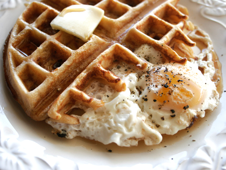 waffle and egg ii homemade whole wheat waffles and eggs using with the ...