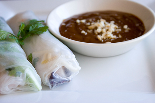 Spring Rolls With Peanut Sauce Spring rolls are one of the