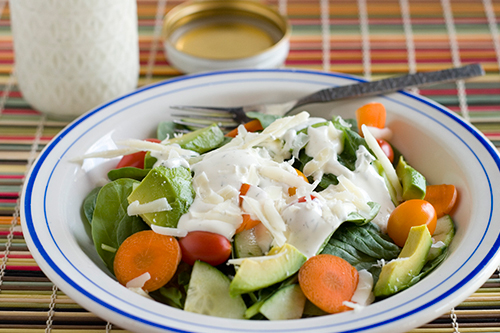 This quick salad was awesome  Ranch Dressing Salad