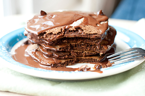 Chocolate pancakes. | disgustingly GOOD